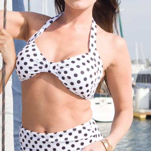 Two-Piece Classic White/Black Dots