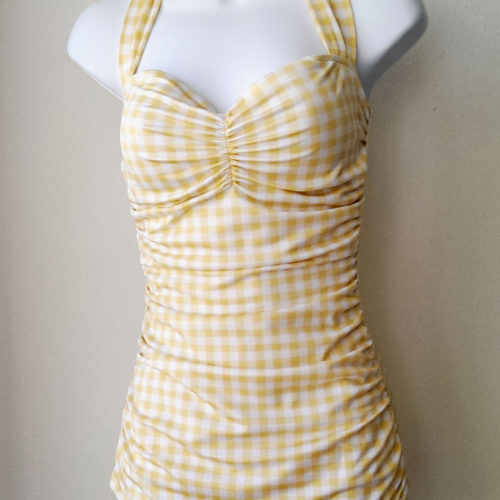 Classic Sheath Gingham Yellow