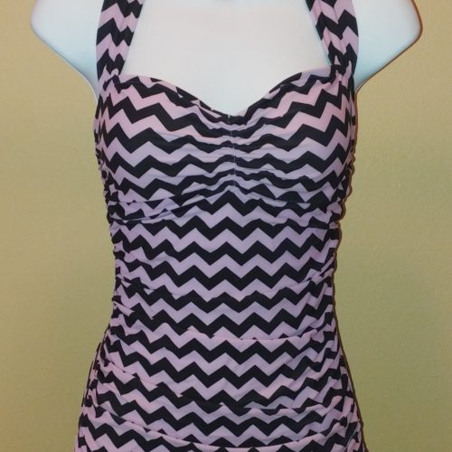 BBB Classic Sheath One-Piece Chevron Black Lavender