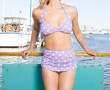 Two-Piece Classic Lilac/White Dots