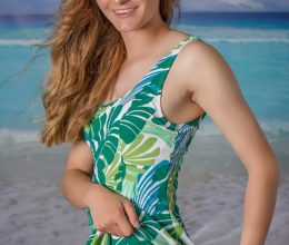A-Line Swimdress Palmy Days