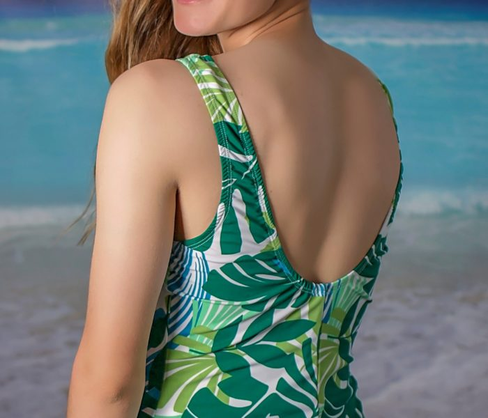 A-Line Swimdress Palmy Days Back