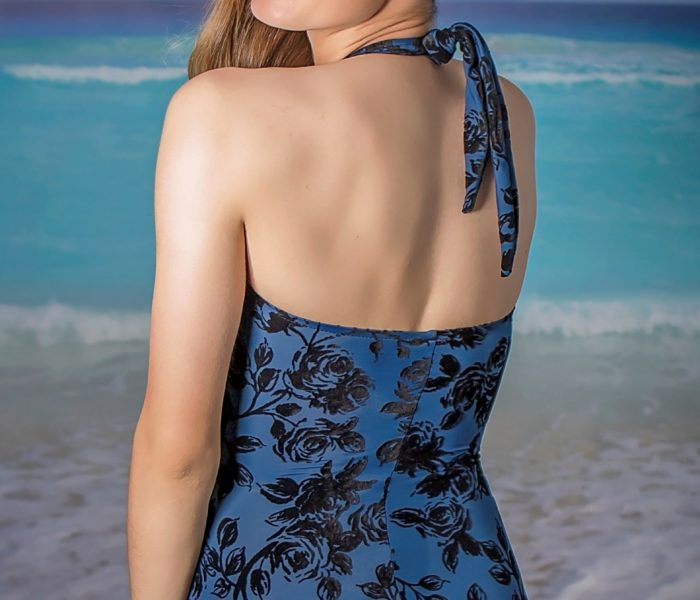 Classic Sheath Flocked Blue Back