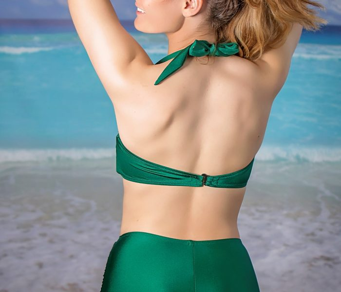 Two Piece Green Back